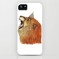 Birthday Lion iPhone & iPod Case by Sandra Dieckmann