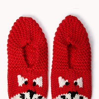 Cozy Knit Kitten Slippers