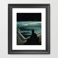 In the presence of all be nothing Framed Art Print by David Delruelle