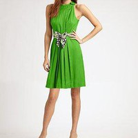 Milly - Hilarie Pleated Dress - Saks.com