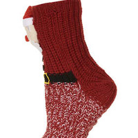 ELK SANTA SLIPPER SOCKS