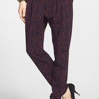 Lily White Pleat Knit Slouchy Pants (Juniors) | Nordstrom