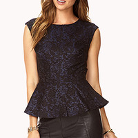 Luxe Lace Peplum Top