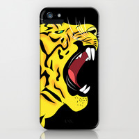 tiger iPhone & iPod Case by Mark Ashkenazi
