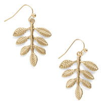 Leafing So Soon? Earrings | Mod Retro Vintage Earrings | ModCloth.com