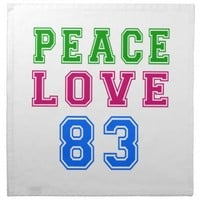 Peace Love 83 Birthday Designs