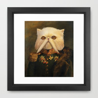 Persian Cat Emperor Framed Art Print by Catalin Anastase