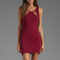 Ladakh Space Race Dress in Garnet