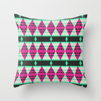 Mix #374 Throw Pillow by Ornaart