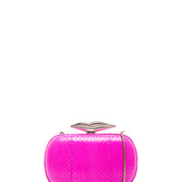 Minaudiere Flirty Snake Clutch in Fetish Pink