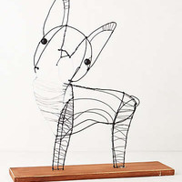 Wire Dog Sculpture By Kaitlyn McCane