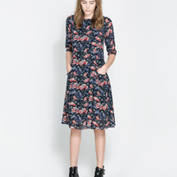 FLORAL DRESS WITH FULL SKIRT