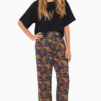 Paisley Print High Waisted Pants $36