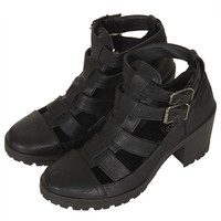 MEGA Cut Out Buckle Boots