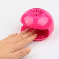 Plastic Cute Finger Toe Nail Art Tip Polish Blower Dryer Eco-Friendly Pink