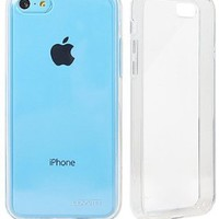 LUVVITT® CLEARVIEW Slim Clear Back Case with Bumper / Cover for iPhone 5C (LIFETIME WARRANTY   Retail Packaging) - Crystal Clear