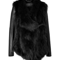 Barbara Bui - Arctic Fox Fur Jacket in Black