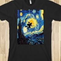 HARRY POTTER STARRY NIGHT ART PAINTING TEE TSHIRT