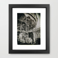 OLD CAROUSEL IN PARIS (Old plate camera) Framed Art Print by JAY'S PICTURES