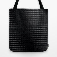 Woodstock Chalkboard Tote Bag by LacyDermy