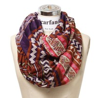 Scarfand's Mixed Infinity Brick Scarf (Chevron Purple)