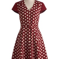 Give It All You Dot Dress | Mod Retro Vintage Dresses | ModCloth.com