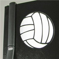 "Image Sport 5 3/4"" Volleyball Magnet -White - Volleyball.Com"