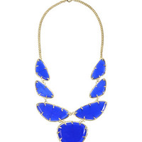 Cats Eye Statement Bib Necklace, Cobalt