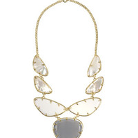 Multi-Stone Statement Bib Necklace, Mist