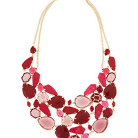 Estella Bib Necklace, Pink