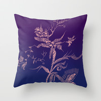 flower Throw Pillow by Marianna Tankelevich