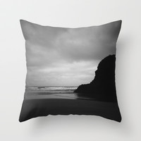 Ecola 2 Throw Pillow by Melissa Lund