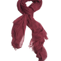 Raw Edge Weaved Scarf | Wet Seal