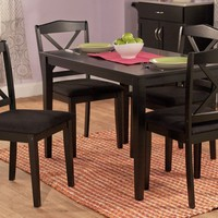 5 pc. Mason crossback dining set in black finish