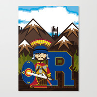R is for Roman Stretched Canvas by markmurphycreative
