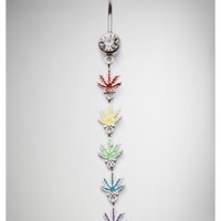 Rainbow Rasta Pot Leaf Dangle Banana Belly Button Ring