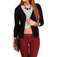 Black Long Sleeve Lightweight Cardi