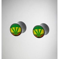 Rasta Leaf Plug Set