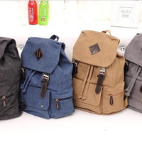 Four color backpack,canvas backpack, Cylinder backpack, school backpack,Fashion bag,Travel backpacks