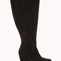 Wide Calf Wedge Boots