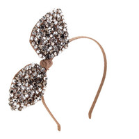 GIRLS' JEWELED BOW HEADBAND