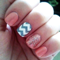 Chevron Vinyl Nail Art Decals (Set of 60)