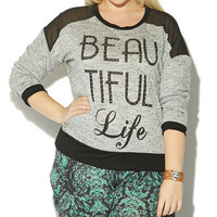 Beautiful Life Mesh Sweater