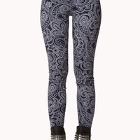 Boho Paisely Print Leggings