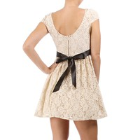 SALE-Sarina-Nude Homecoming Dress