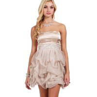SALE-Verlie-Brown Homecoming Dress