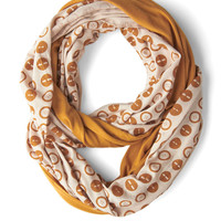 Peek of Pattern Circle Scarf Set in Buttons | Mod Retro Vintage Scarves | ModCloth.com