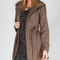 JACK BY BB DAKOTA Torrey Womens Peacoat