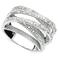 Victoria Townsend Diamond Ring, Sterling Silver Diamond Multi Row (1/2 ct. t.w.)