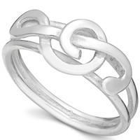 Unwritten Sterling Silver Treble Clef Ring